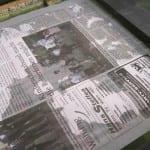 Um Kahmhaut von der Oberfläche zu entfernen kann eine Seite Zeitungspapier genutzt werden.
