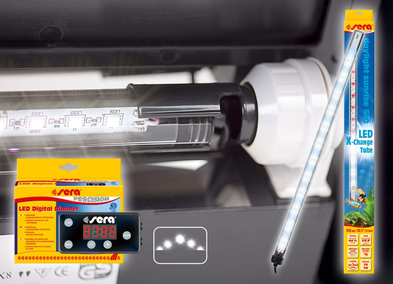 Die Werte der sera LED X-Change Tubes