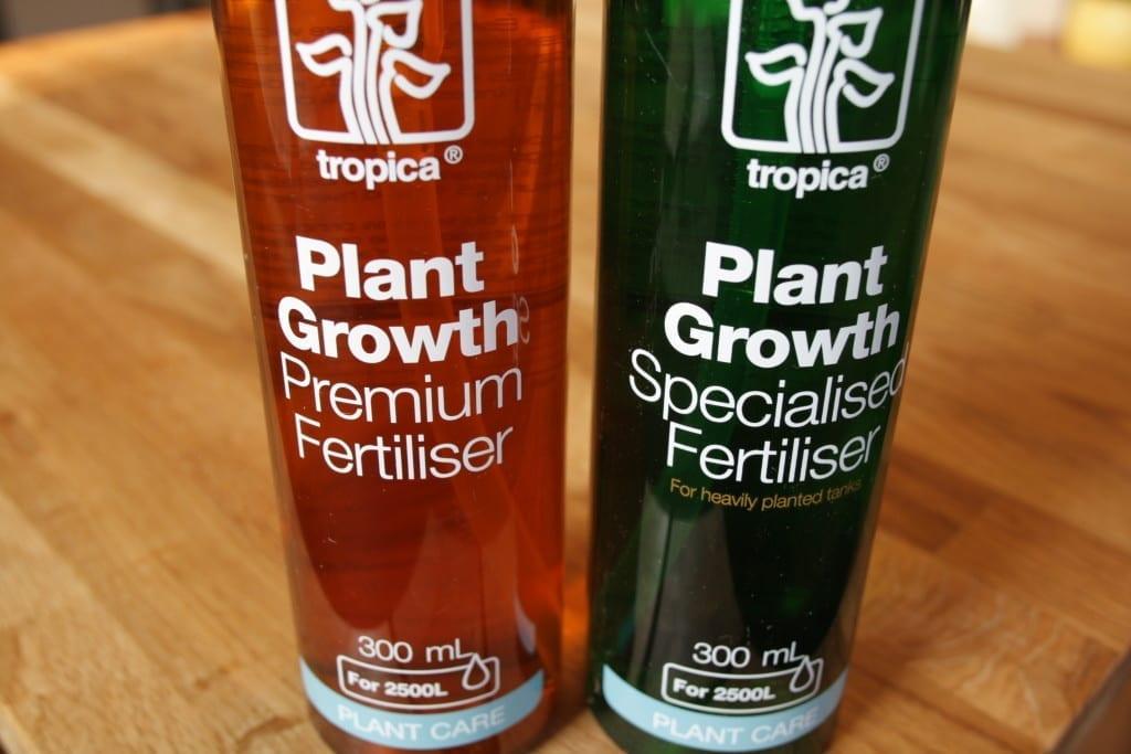 Tropica Plant Care Flüssigdünger umfassen Premium Fertiliser und Specialised Fertiliser