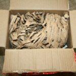 Der Karton wurde ausreichend mit Füllmaterial ausgefüllt.