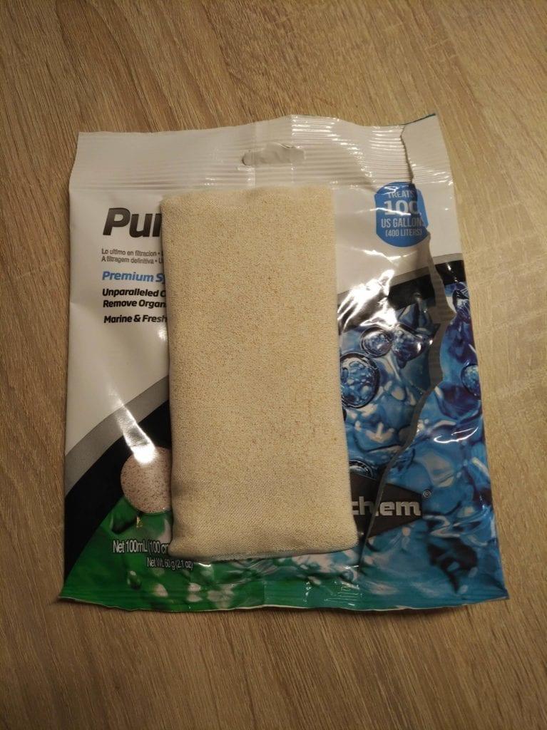 Ein Netz Purigen auf der Verpackung